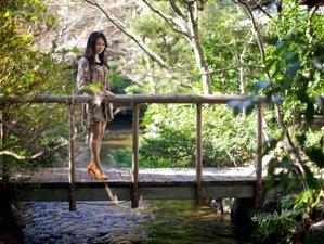 庭園を流れる小川が癒しの空間を演出します。