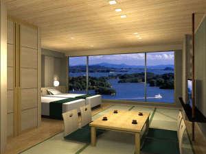 平成29年7月リニューアル!新イーストウィング海側客室イメージです。