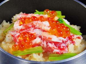 【期間限定】釜炊きカニいくらご飯