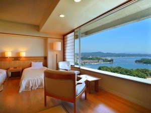 松島湾が一望できる和洋室 海側(アネックス館3F~6F)