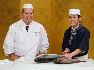 山水館のご夕食は勲章料理人・大田忠道プロデュースの創作和食会席。愛弟子の山本料理長が腕をふるいます。