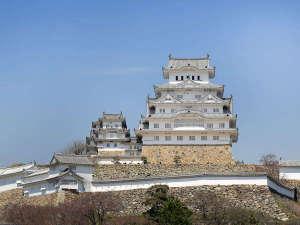 世界文化遺産・国宝「姫路城」天守閣群遠景