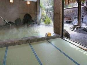 【露天風呂】女性露天風呂・宙の湯 畳風呂なら滑りにくくてお子様も安心♪