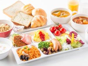 【朝食ビュッフェ】こだわりスープと種類豊富なサラダバー。一日の大事なスタートに。(イメージ)