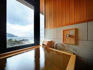 【天然温泉100%内湯付き和洋室・ツインルーム】内湯からの展望