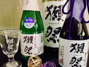 獺祭を取り扱っております。現在大変貴重なお酒です。1瓶-2,000円(税別)~3,800円(税別)まで