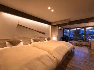 あなたらしい宮島の滞在を叶えてくれるベッドルーム。宮島でスローライフをお楽しみください