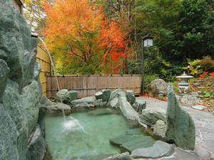 ホテル秘境の湯:露天風呂も彩られます♪