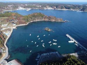 ■南三陸町沿岸部はリアス式海岸特有の豊かな景観を有しています。