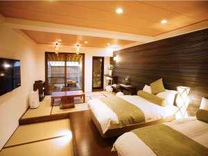モダン和室(客室露天風呂付)和洋の織りなすお部屋をご堪能下さいませ。