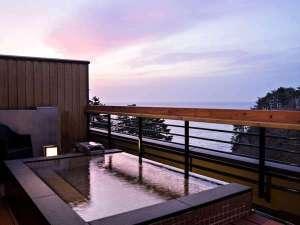 【貸切風呂】天望露天風呂・しぶき(冬季休止)/三陸の海を一望。※温泉ではありません