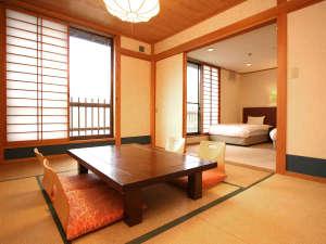【和洋室一例】二間続きのゆったりとしたお部屋です。のんびりとお寛ぎ下さい。
