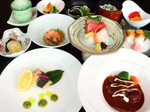 【夕食】スタンダードディナーコース料理の一例