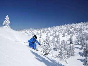 【八甲田スキー】ホテルから八甲田スキー場までは車で約50分。冬季限定で送迎バスも運行しております。