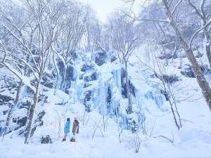 【氷瀑スノーシューツアー】冬の絶景を巡る人気のツアー。ガイド同伴で初心者の方にも安心です(無料)