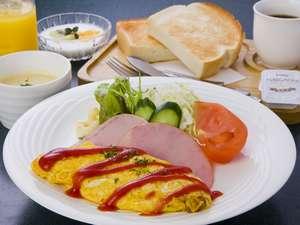 卵料理が自慢の洋朝食