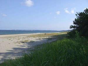 【宿前の砂浜】早朝のお散歩に最適♪
