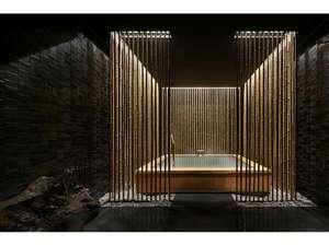 〈HIKARI〉茶室をイメージした空間。地蔵源泉の素晴らしさをご堪能いただけます。