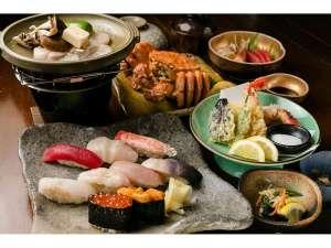 「旬寿司毛ガニ海鮮」コース!!お寿司と蟹を一緒にお楽しみいただけます♪