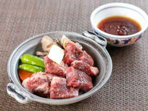 上州牛のステーキはとろけるような柔らかさ