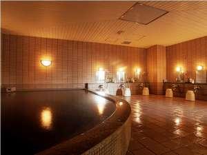 深夜2時まで入れる「美人の湯」モール温泉大浴場でお肌ツルツル♪(写真は男子浴場です)