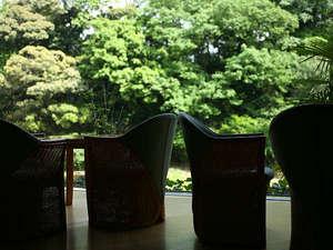 湯上り処には「黒豆茶」をご用意。