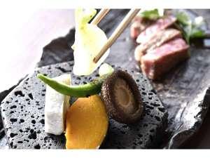 石窯コースみのり料理一例