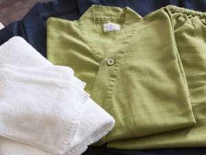 肌触りのいい作務衣。大きいサイズやお子様用サイズもあります。