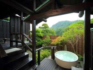 当館唯一の露天風呂が付いた特別室!テラスも広々で長瀞の自然をゆったり堪能できます♪