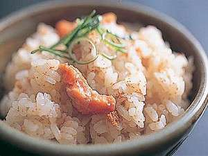 朝食には、自家製の新米「コシヒカリ」を使ったセコ飯を!