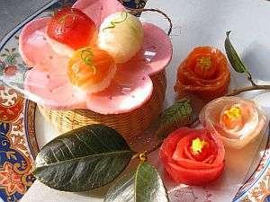 ◆春の鞠寿司◆桃の節句にはこんなに可愛らしい鞠寿司も楽しんで頂けます。