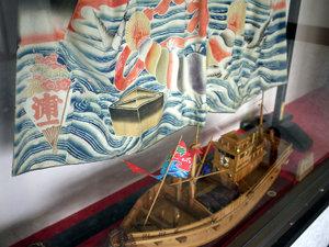 *館内には船の模型もございます。海辺の宿で寛ぎ時間をお過ごし下さい。