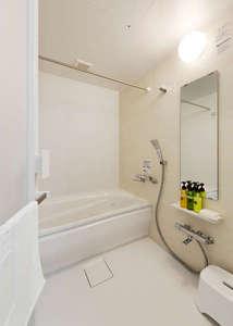 洗い場のあるお風呂を採用。(一部の部屋除く)