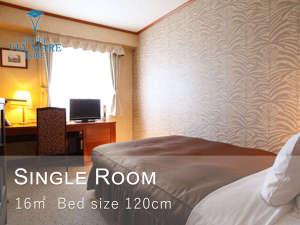 シングルルーム(例)全室セミダブルサイズ(幅120㎝)のベッドをご用意