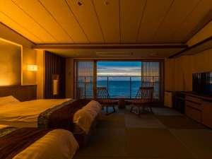 潮騒倶楽部『月灯』タイプ。夕暮れの海を眺めながら・・。