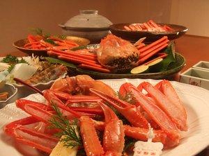 秋の旬食「香住カニ」刺身・焼き・茹で・しゃぶしゃぶ・かにみそ~フルコースで!