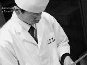 旬の地元食材を惜しげもなく使い、手作りにとことんこだわる当館料理長・竹森英治