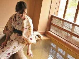 露天風呂付客室~雅スイート~ 源泉のお湯を楽しむ