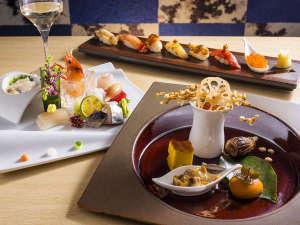 【Blue Seasons一例】寿司バーのようなスタイリッシュな食事処で、青函の旬の魚介をお楽しみ下さい。
