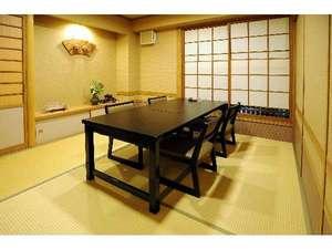 【お食事会場】一例。個室になっておりますので、ごゆっくりどうぞ。