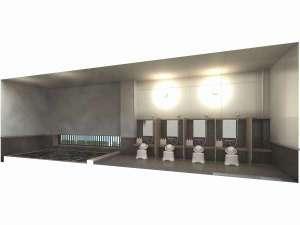 大浴場・男女個別に完備女子大浴場はレディースフロアに設置、客室カードキーにて連動して施錠しています