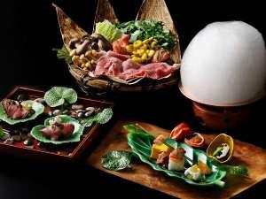 【季節の会席料理】アルプスの雪どけをイメージしたオリジナル料理「雪鍋会席」