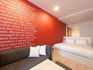 【South/デラックスダブル】23平米/160㎝幅ベッド1台/バルコニー付/カラーはお部屋によって異なります