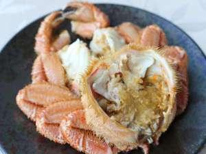 毛蟹付きプランでは、雄武産毛蟹が1尾付きます。