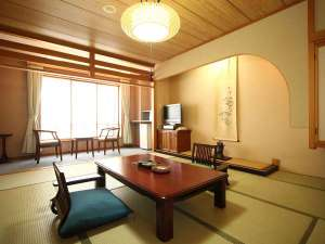 和室の一例。ゆったりと寛げる純和風のお部屋。