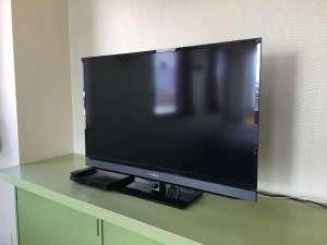 全室40型液晶テレビ&ブルーレイプレーヤー設置しております。