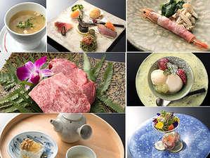 鉄板焼「えん」の夕食料理(一例)