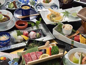 夏味たっぷりの佐賀牛ステーキ付会席
