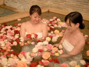 バラの鮮やかな色彩と豊かな香りで、リラックス♪(女子大浴場 14:00~21:30)
