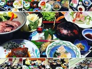 花渕荘 夕食和食膳 一例